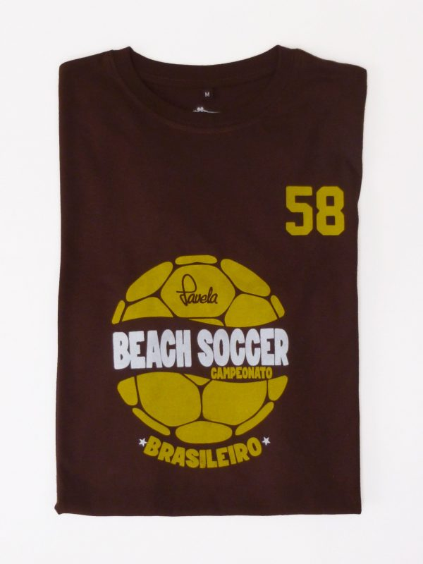 Beach Soccer Brasil Football T-Shirt Folded - Cocoa Brown