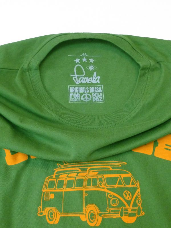 Dub Club Favela Surf Tours Neck Label - Amazon Green