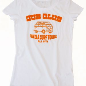 Dub Club Favela Surf Tours Womens T Shirt - White
