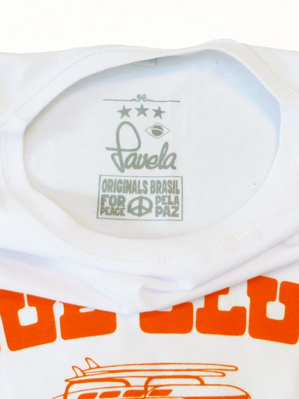 Dub Club Favela Surf Tours Neck Label - White
