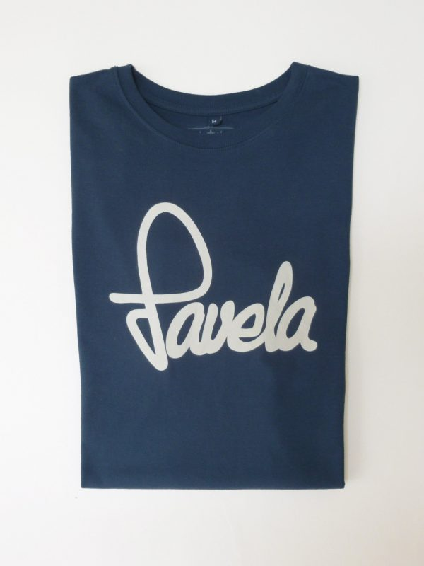 Favela Mens Logo T Shirt Folded - Samba Blue