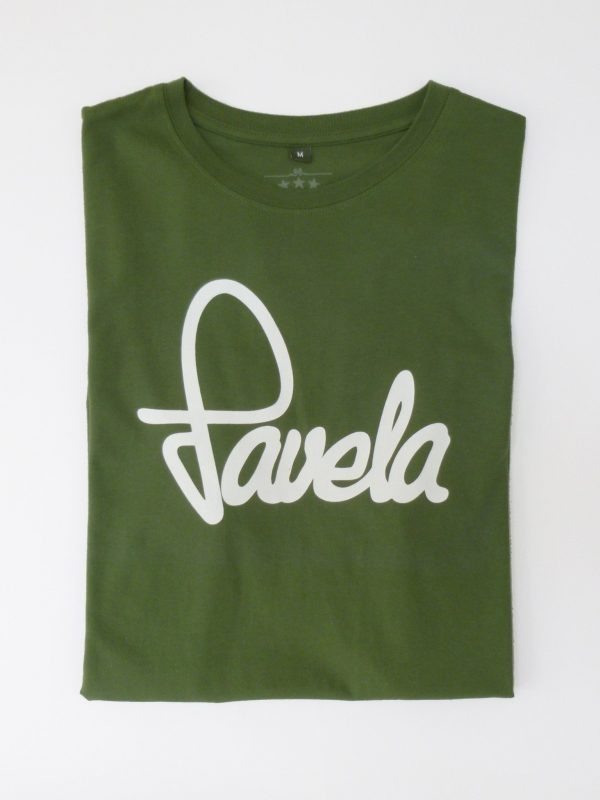 Favela Mens Logo T Shirt Folded - Amazon Green