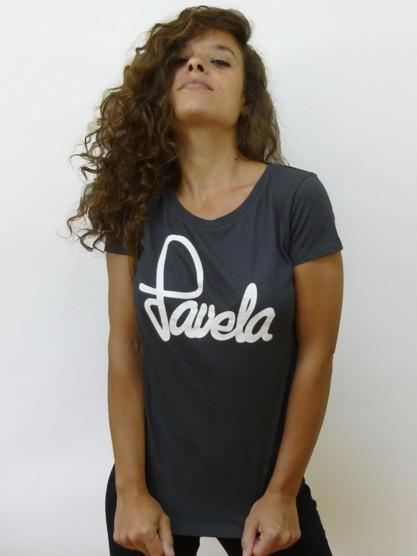 Favela Ladies Logo T Shirt 1 - Dark Grey