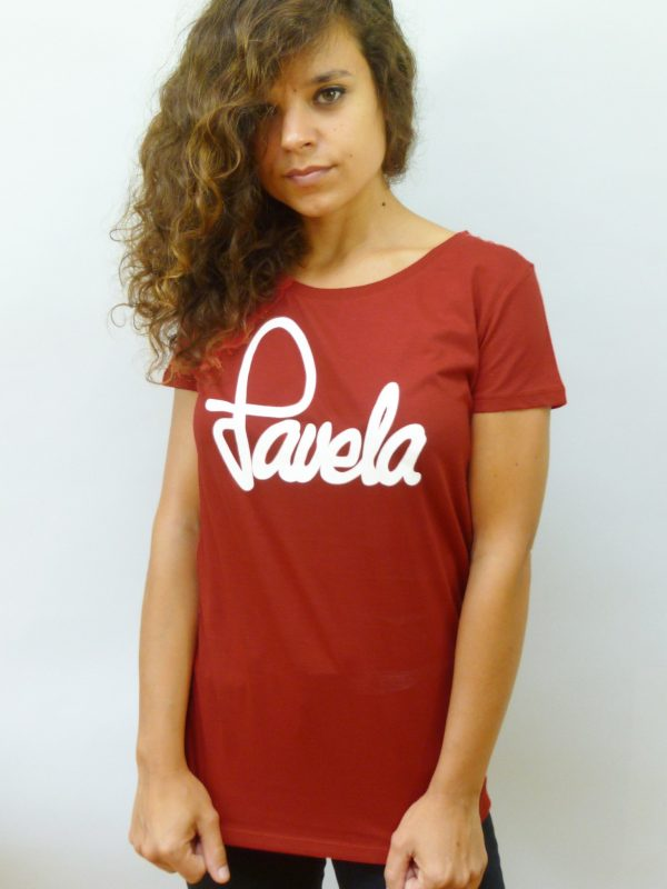 Favela Ladies Logo T Shirt 2 - Carnival Red