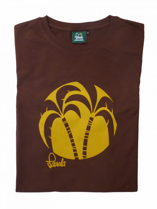 Palm Tree T-Shirt Crop - Cocoa Brown