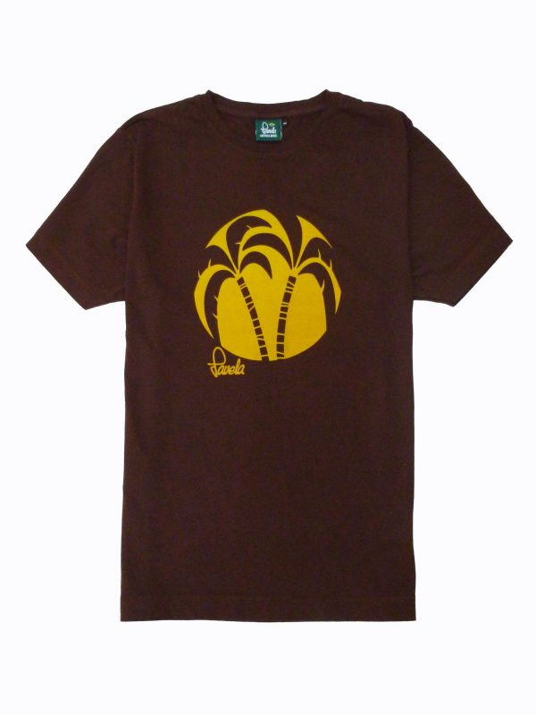 Palm Tree T-Shirt - Cocoa Brown