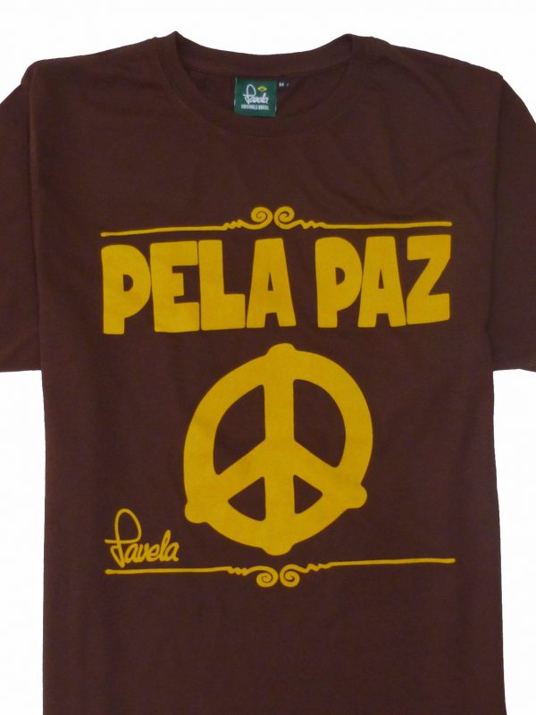 Peace T-Shirt Crop - Cocoa Brown