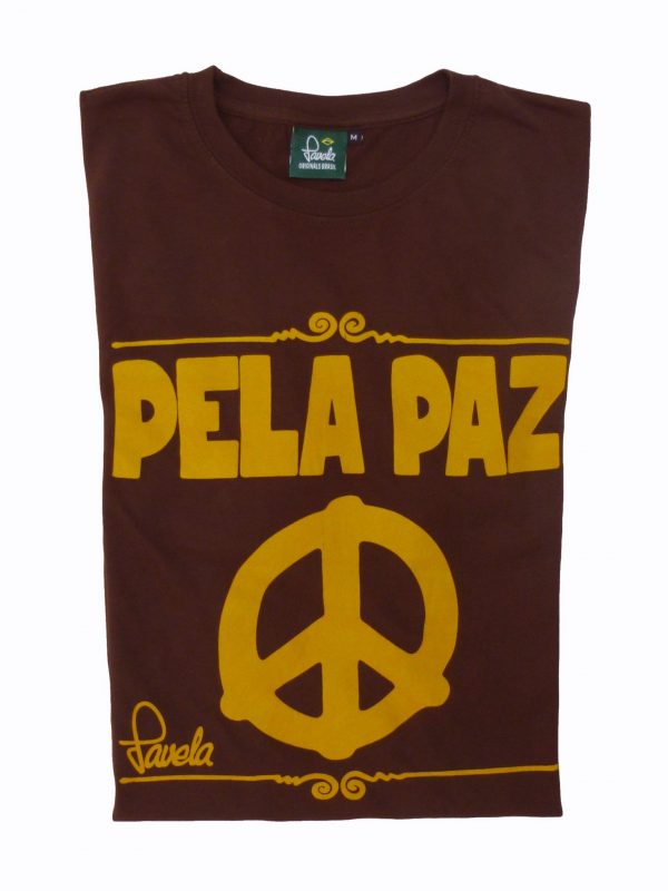 Peace T-Shirt Folded - Cocoa Brown