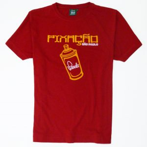 Pixacao Graffiti T-Shirt - Carnival Red