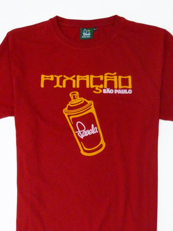 Pixacao Graffiti T Shirt Crop - Carnival Red
