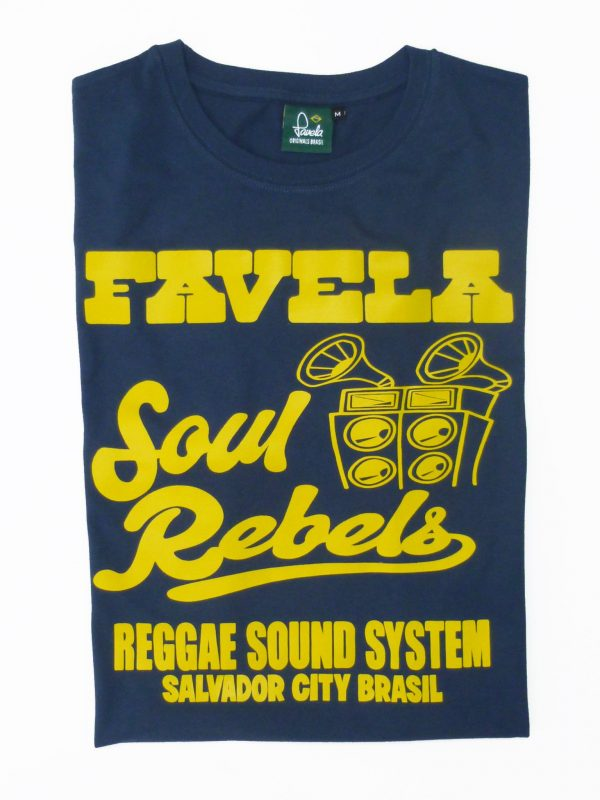 Soul Rebels T-Shirt Folded - Samba Blue