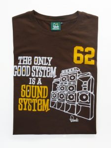 Sound System T-Shirt Folded - Cocoa Brown