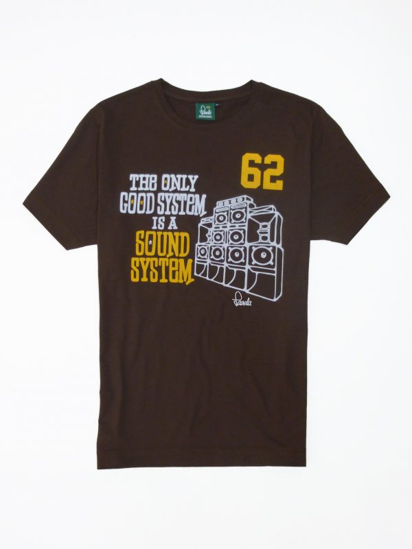 Sound System T-Shirt - Cocoa Brown