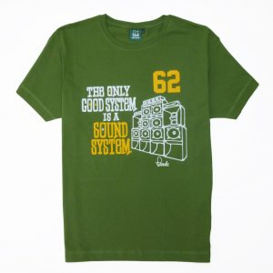Sound System T-Shirt - Amazon Green