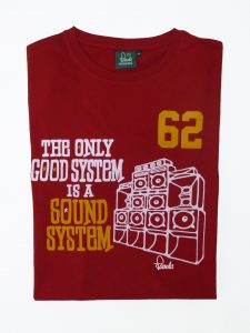Sound System T-Shirt Folded - Carnival Red