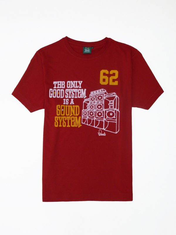 Sound System T-Shirt - Carnival Red